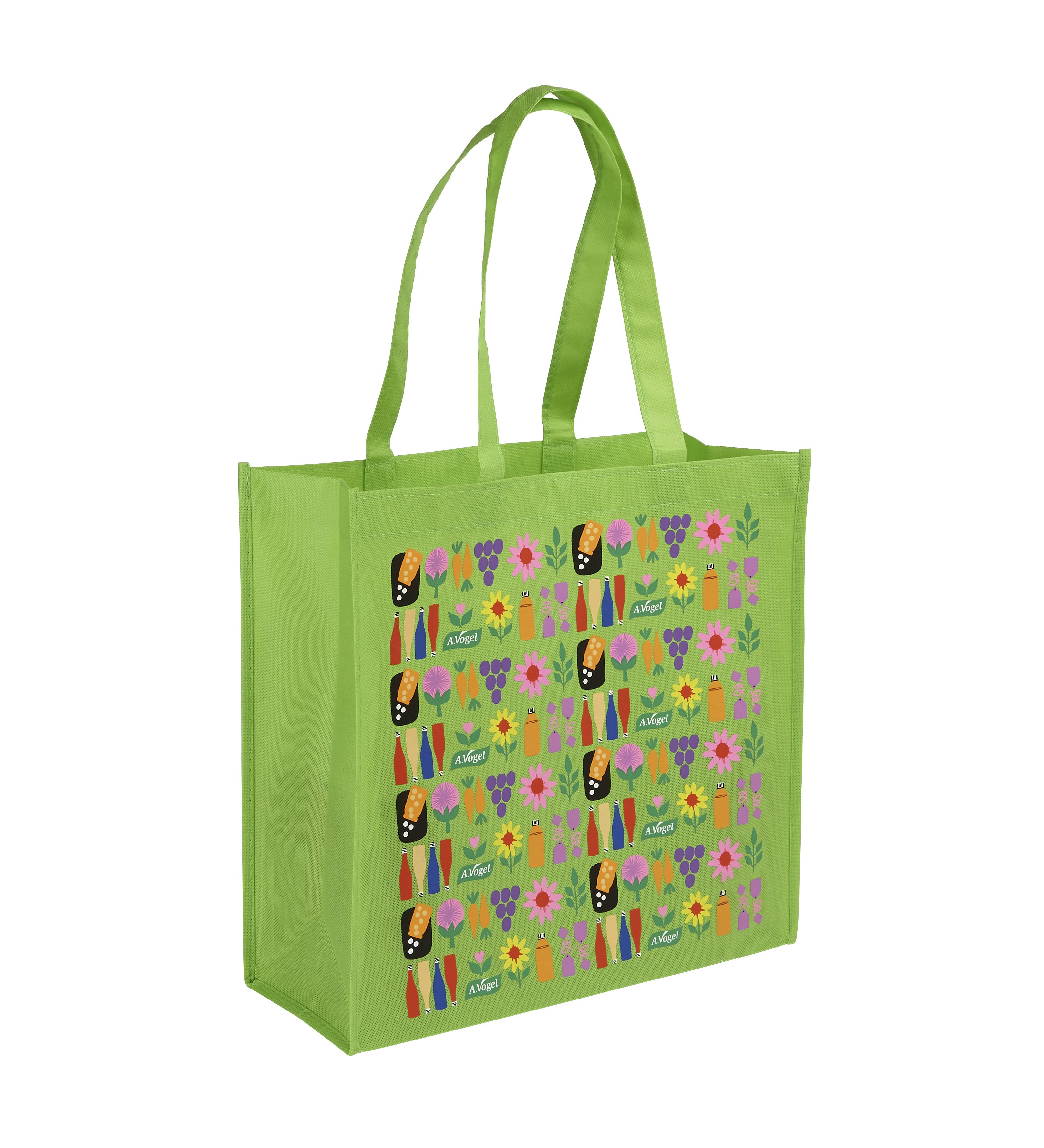 Floral Print Green Now Woven PP Bag