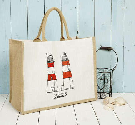 Orfordness Lighthouse Hector Jute Bag