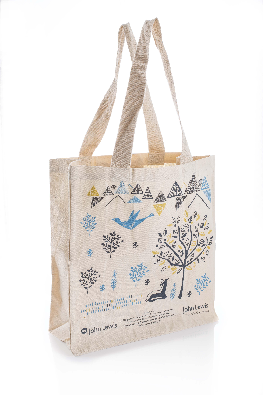 Custom John Lewis Illustrious Canvas Shopper Bag