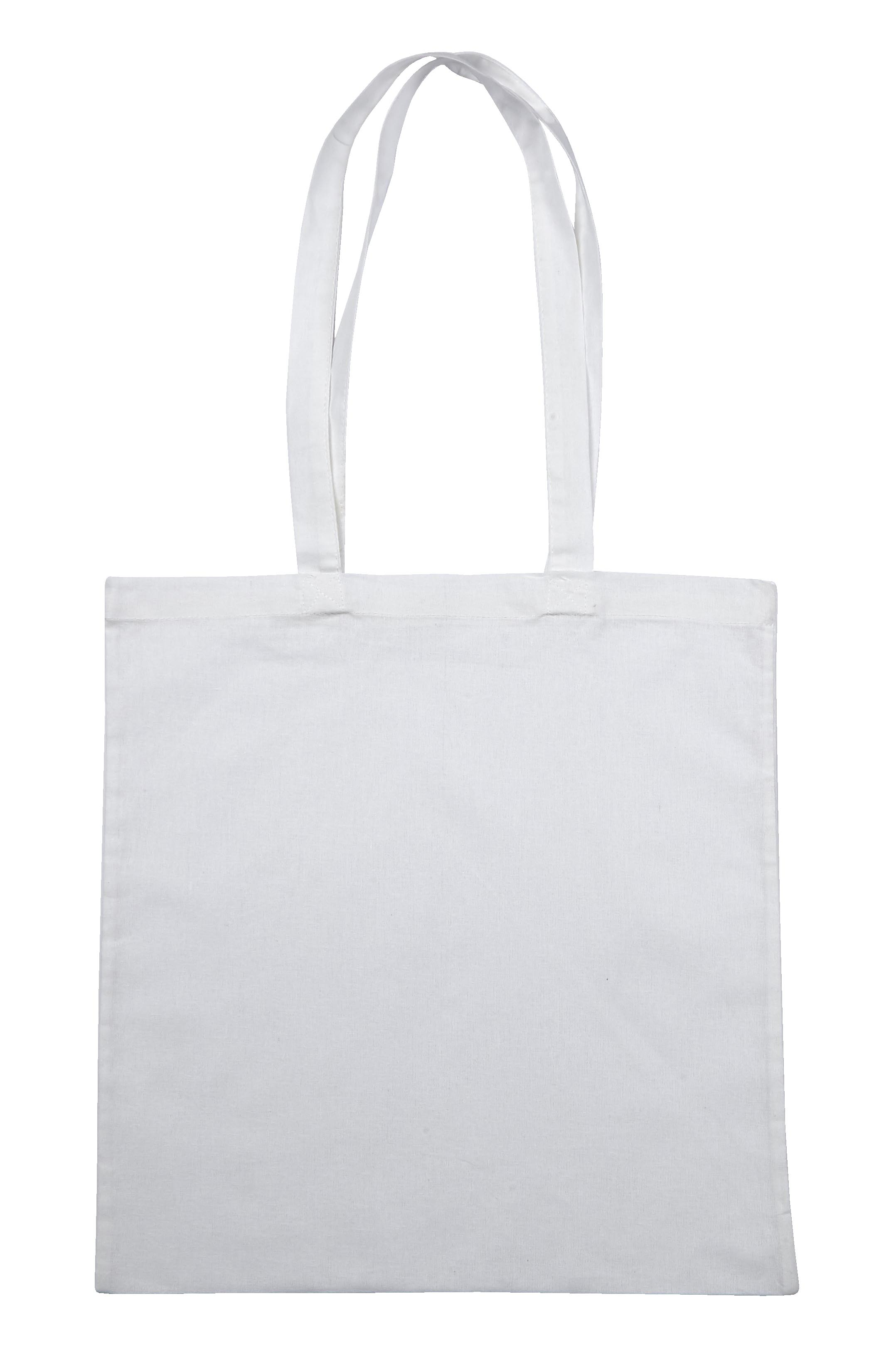 White Jute Canvas Cotton Shopper Bag