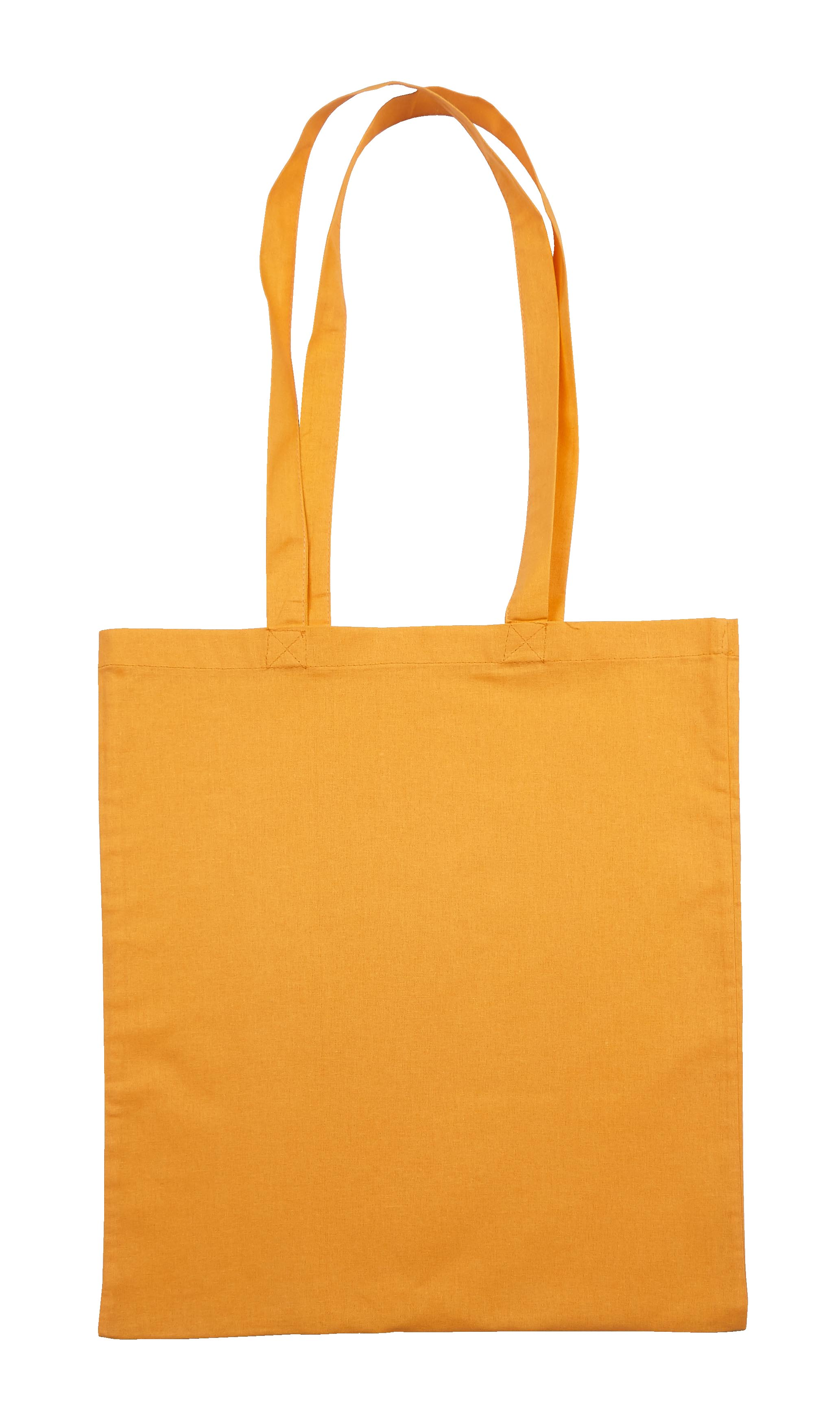Light Orange Jute Canvas Cotton Shopper bag