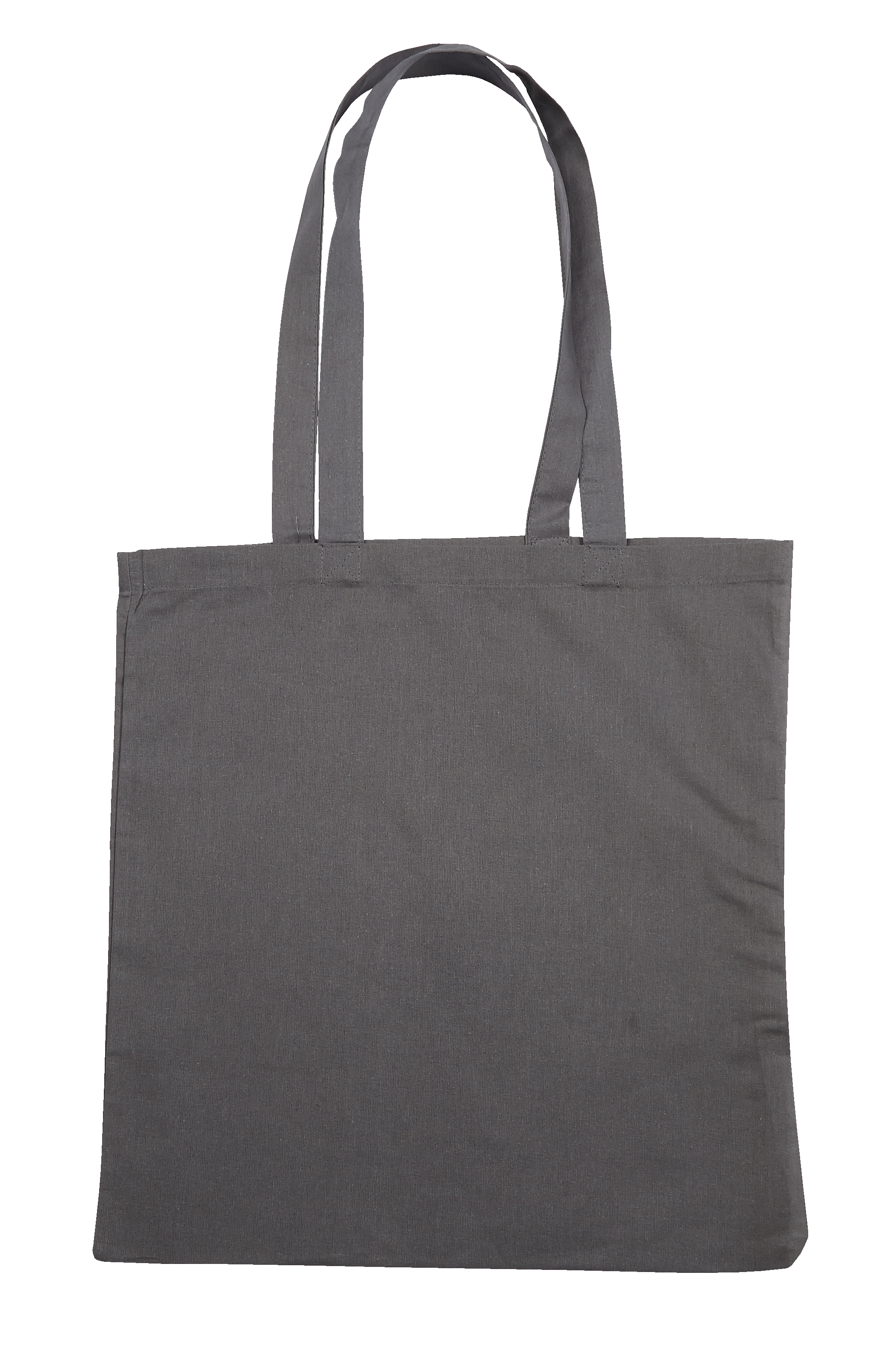 Grey Jute Canvas Cotton Shopper Bag