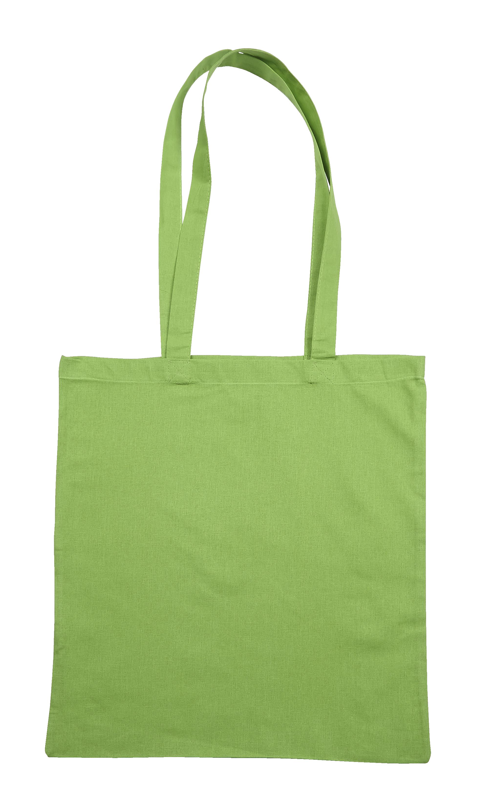 Lime Green Jute Cotton Shopper Bag