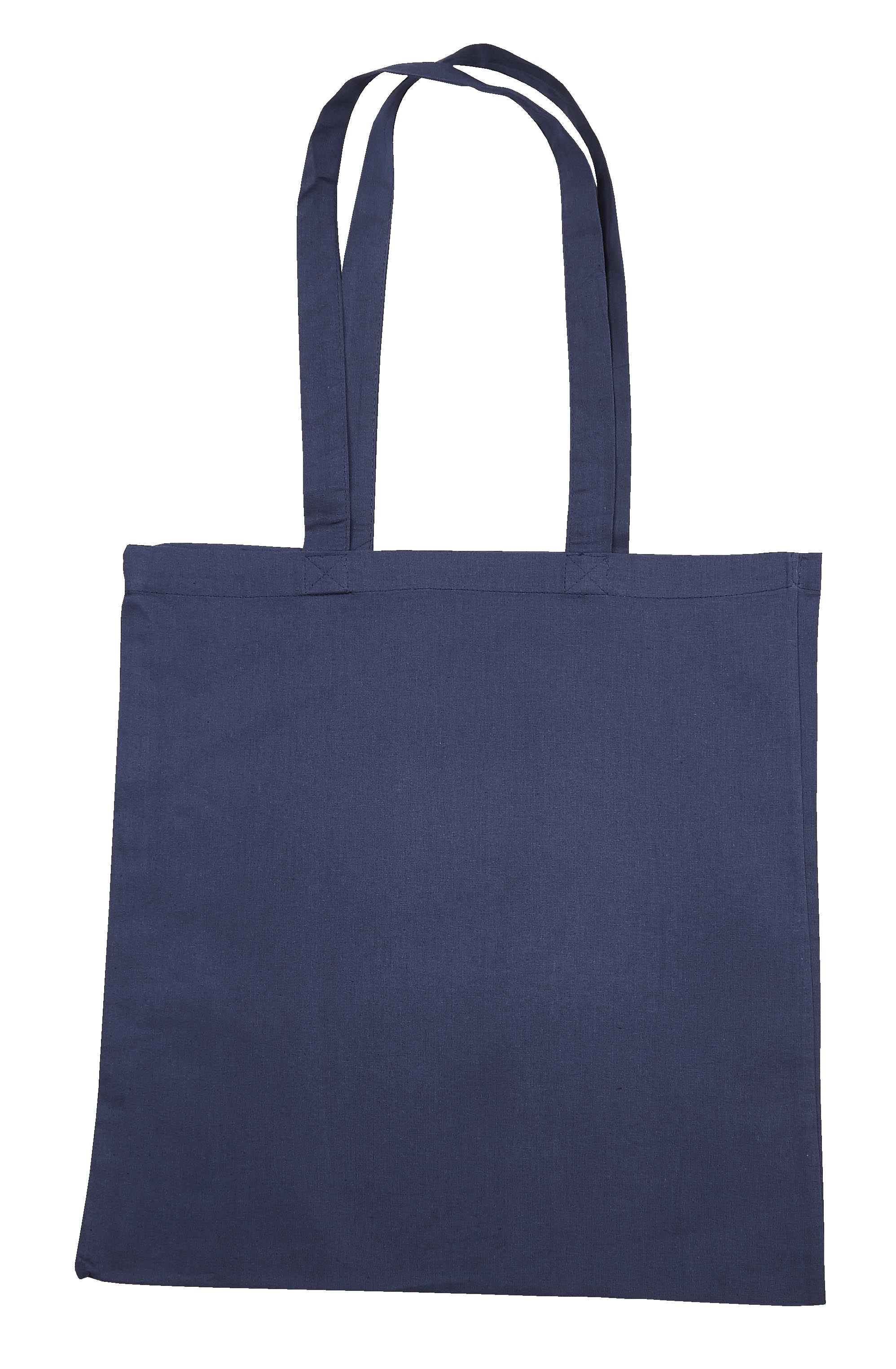 Navy Blue Jute Cotton Shopper Bag