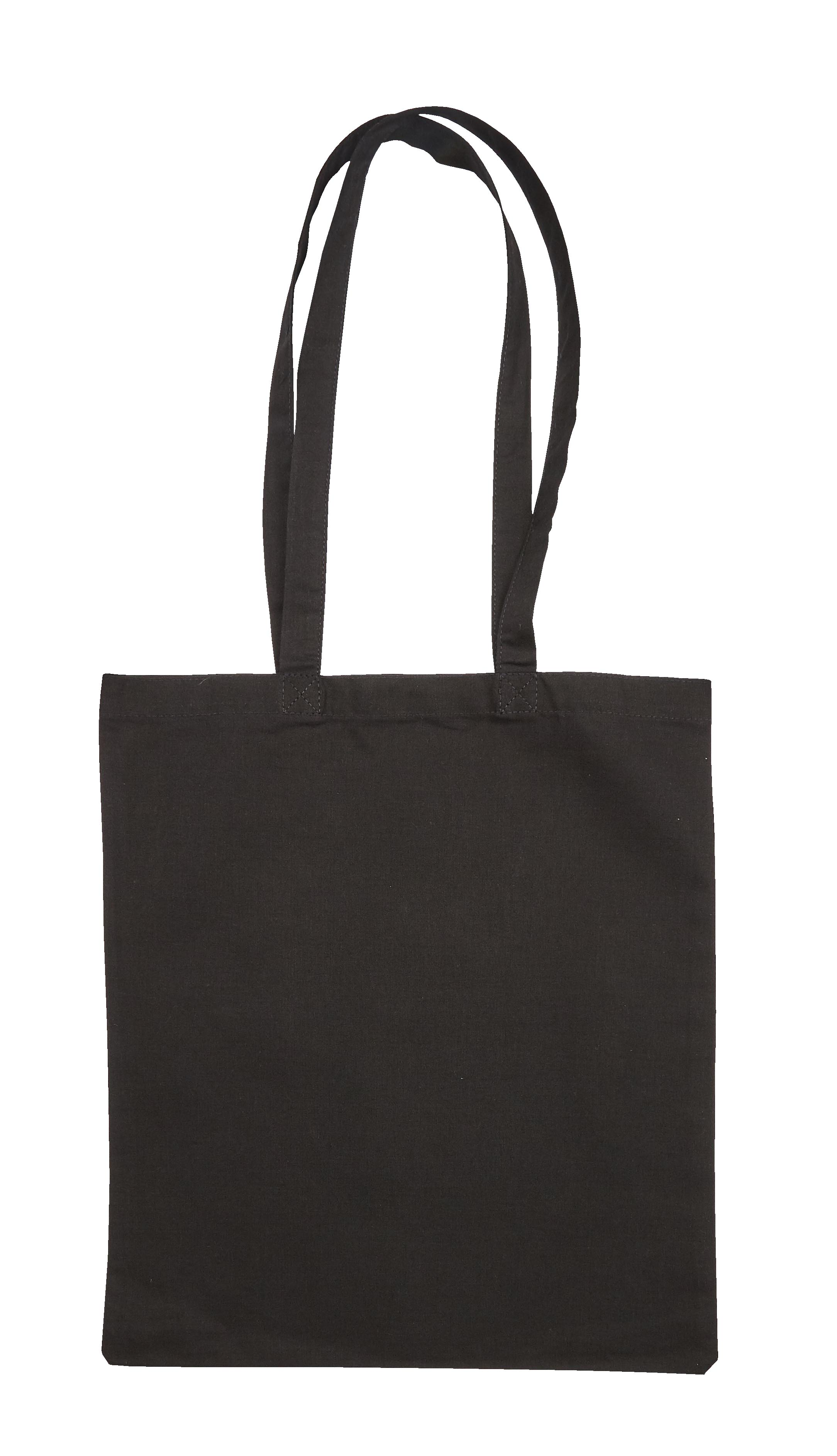 Black Jute Canvas Cotton Shopper Bag