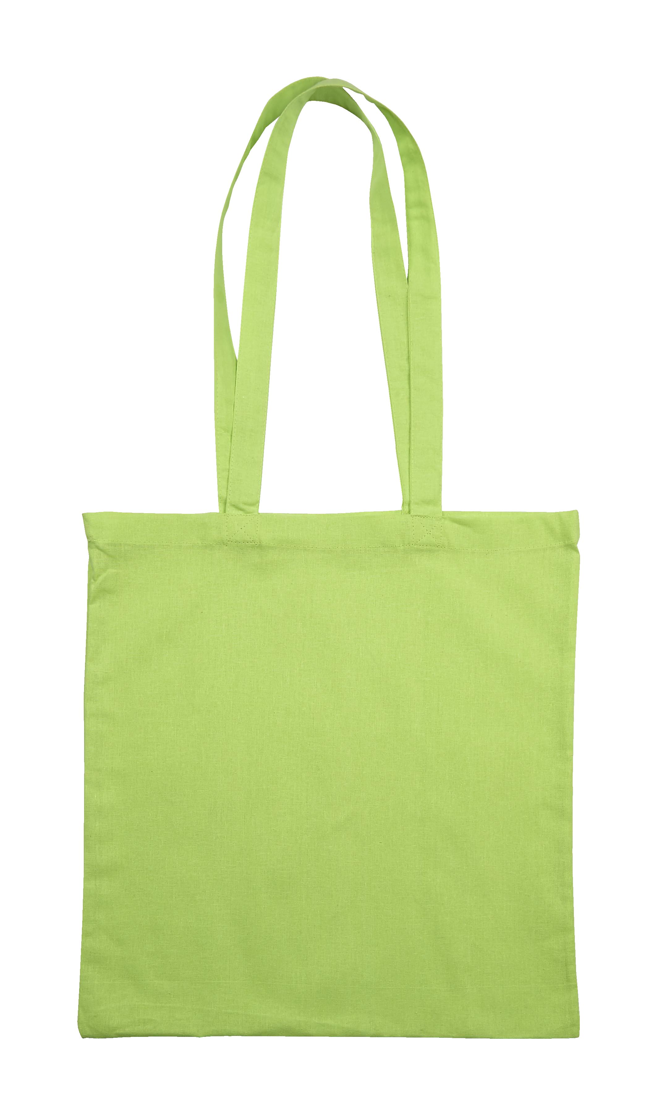 Lime Green Jute Canvas Cotton Shopper Bag