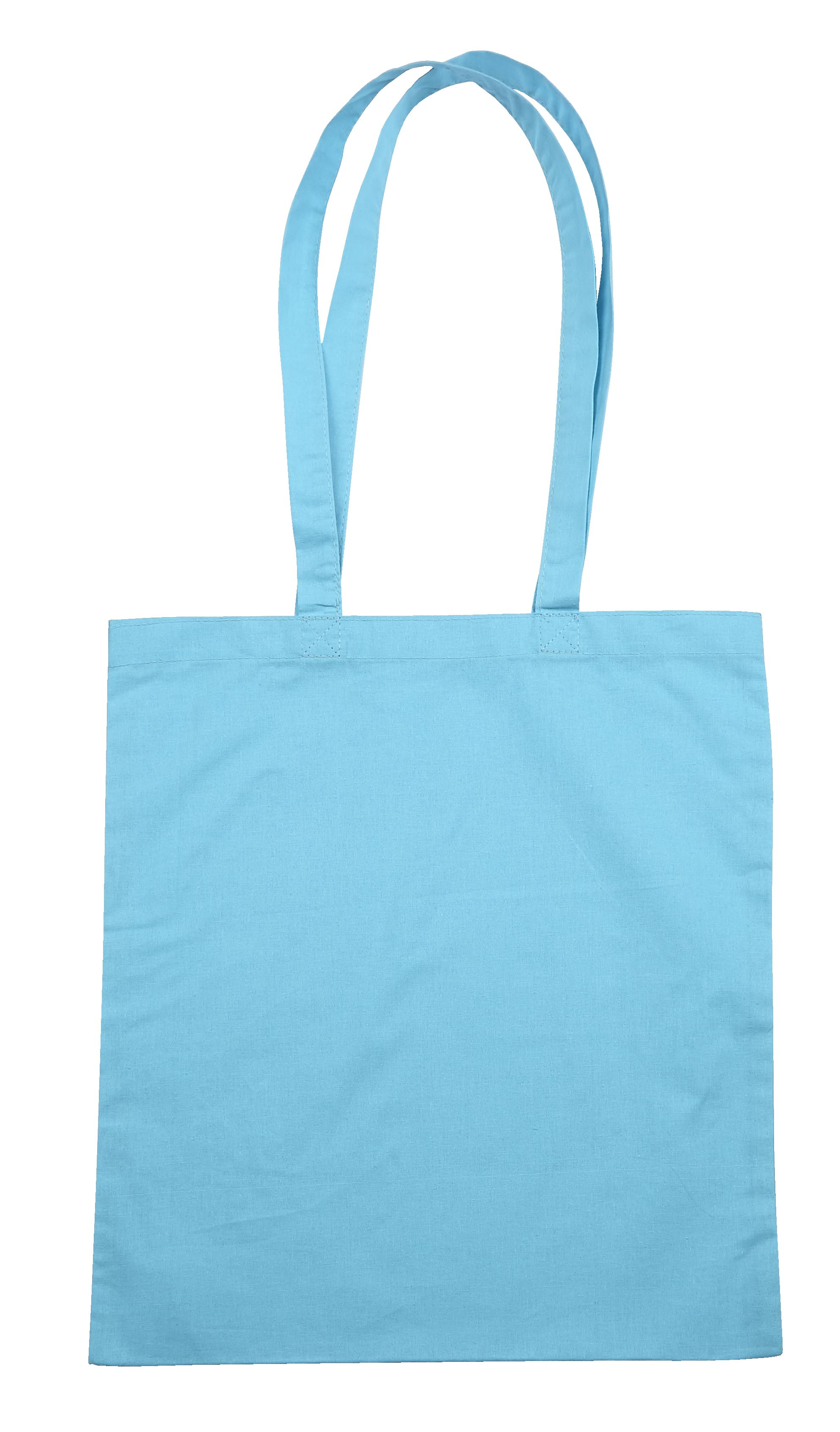 Baby Blue Jute Canvas Cotton Shopper Bag