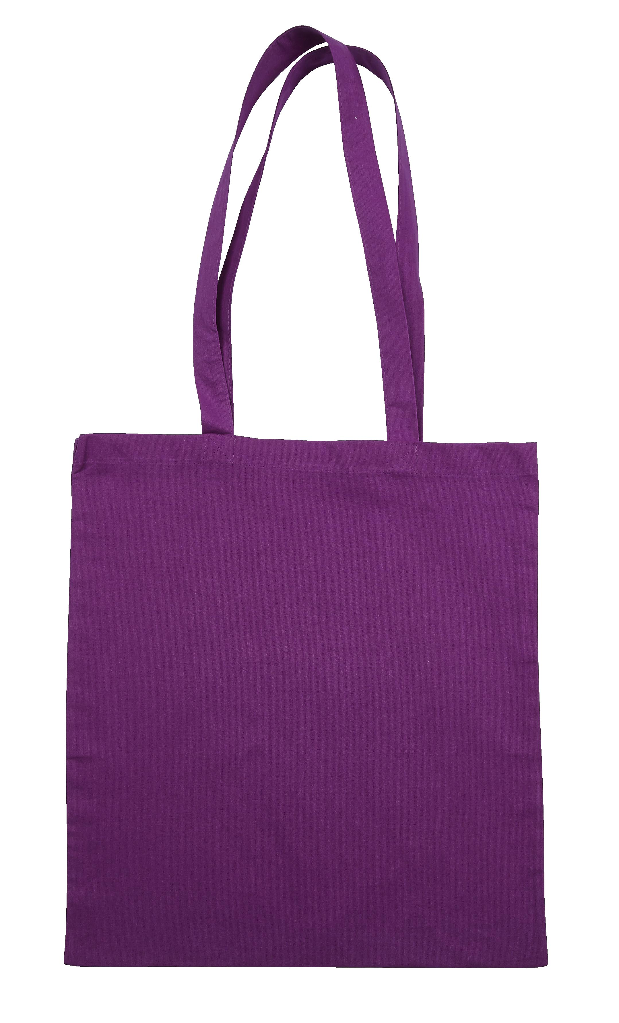 Purple Jute Canvas Cotton Shopper Bag