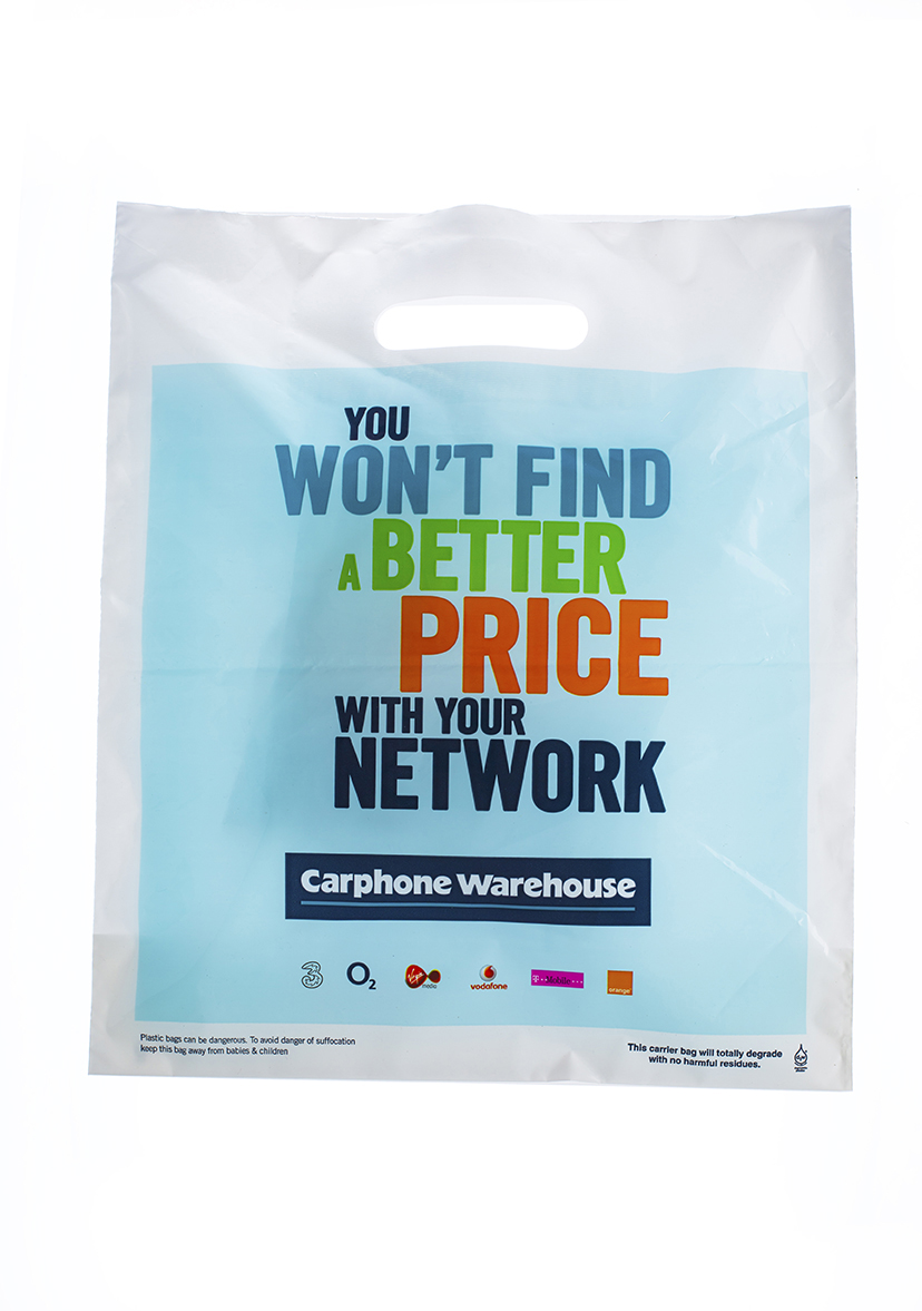 Bespoke Carphone Warehouse Patch Handle Carrier Bag
