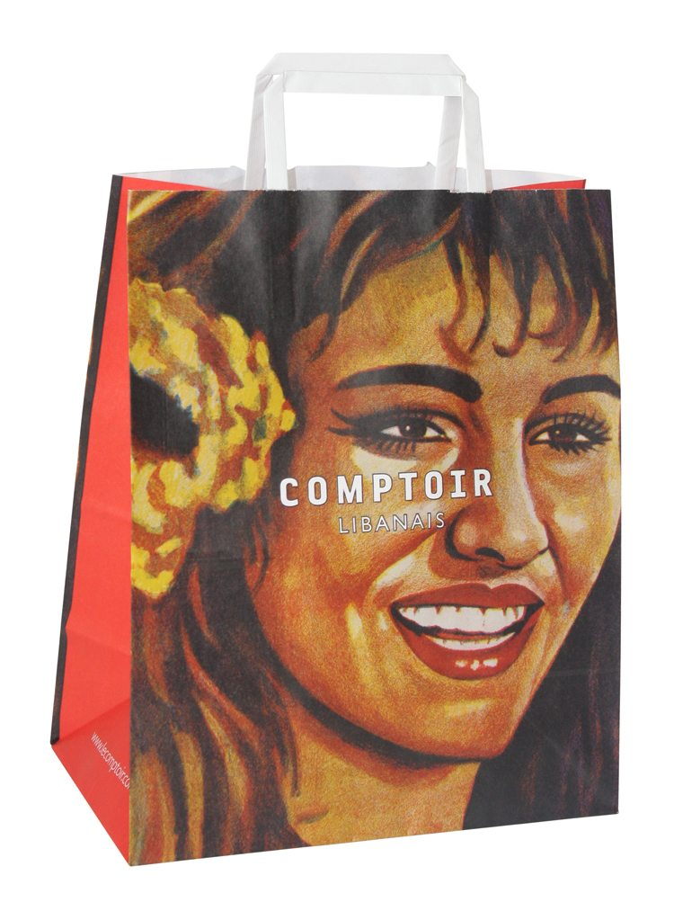 Comptoir Tape Handle Kraft Bag
