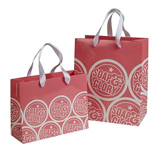 Soap and Glory Branded Carrier Bag