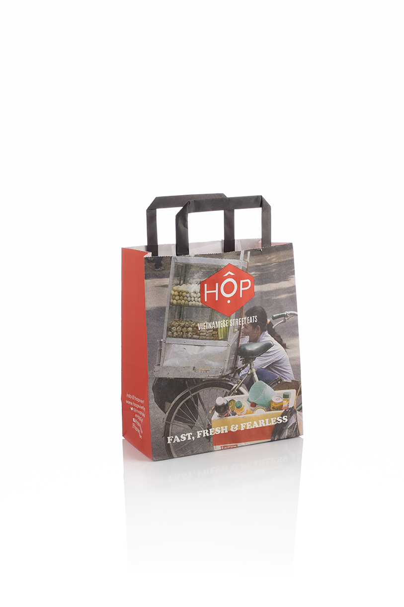 Hop Custom Tape Handle Kraft bag