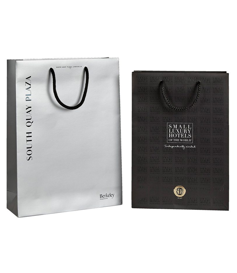 Personalised Luxury Laminated Paper Carrier Bags