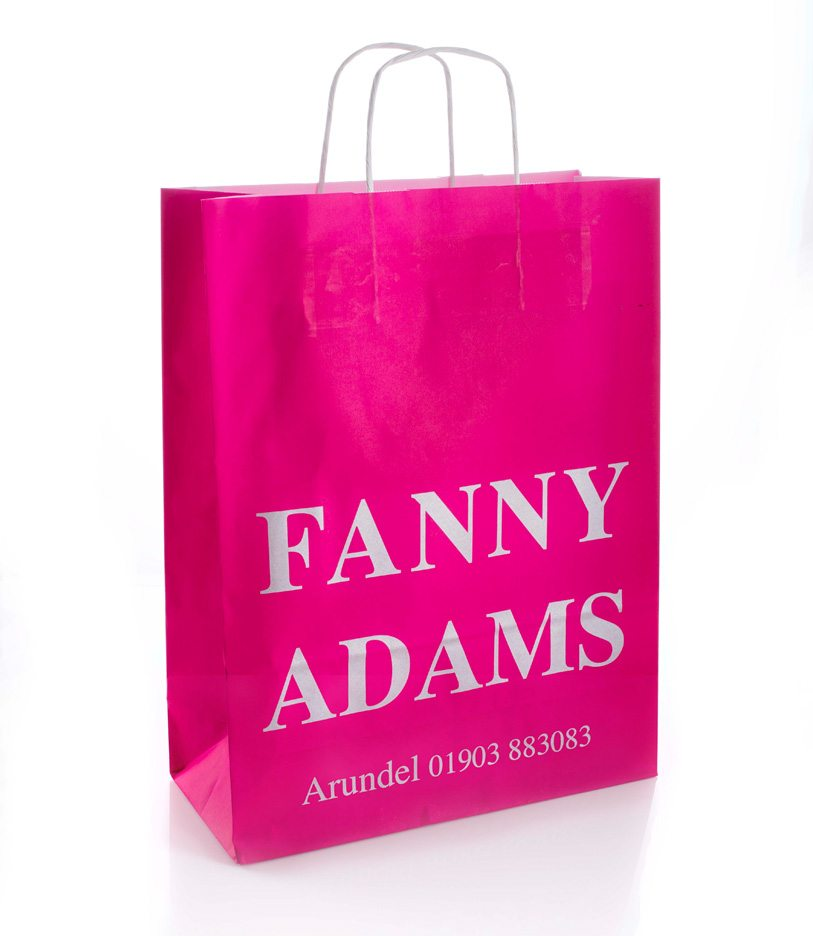 Fanny Adams Custom Twisted Handle Kraft Paper Bag