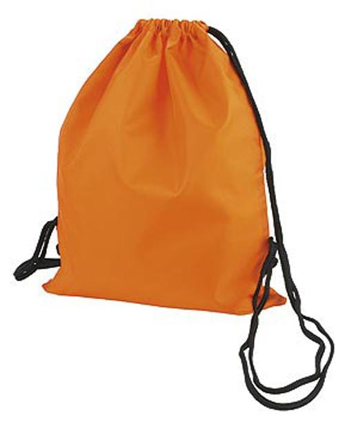 Orange Taffeta Backpack Sport