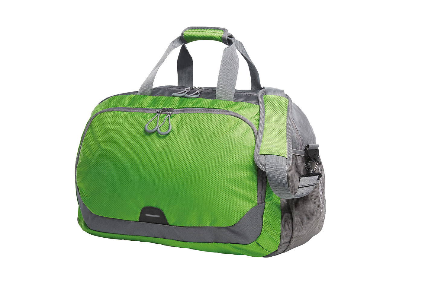 Green and Grey Sports Travel Bag