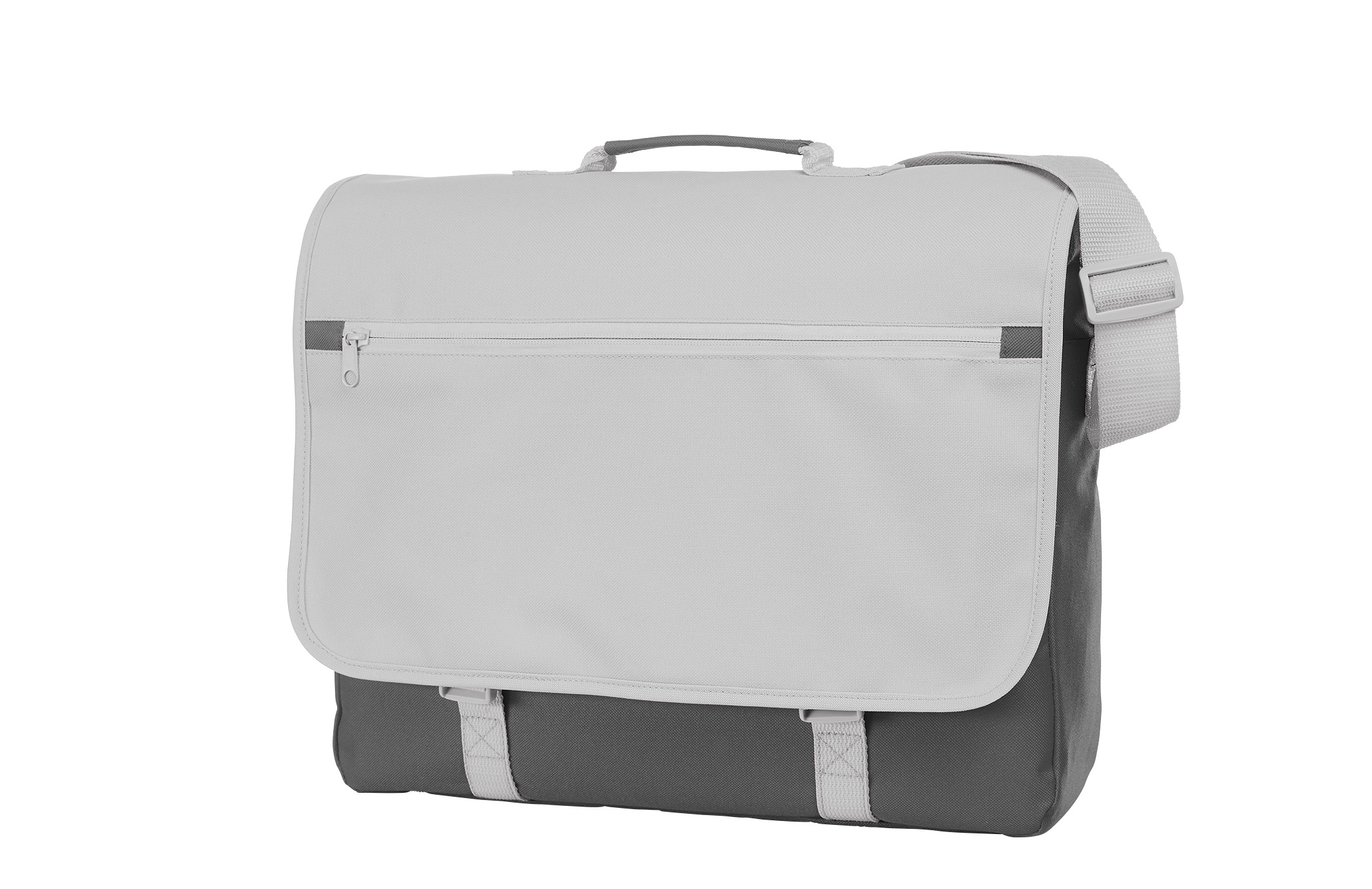 Grey and White CONGRESS Shoulder Bag