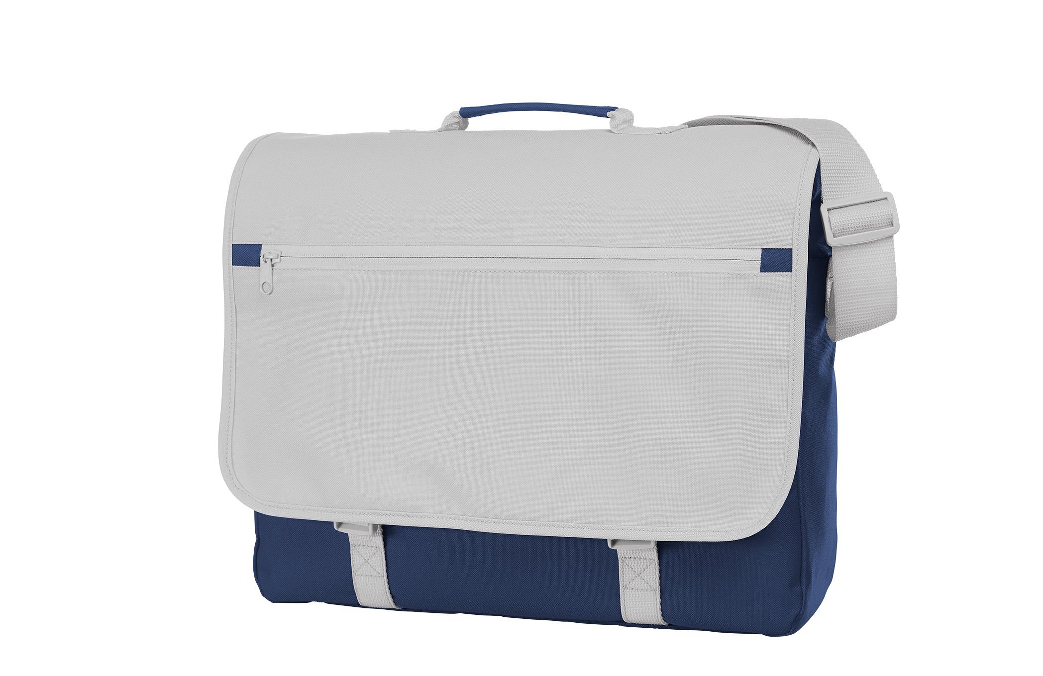 Navy Blue and White Shoulder Bag