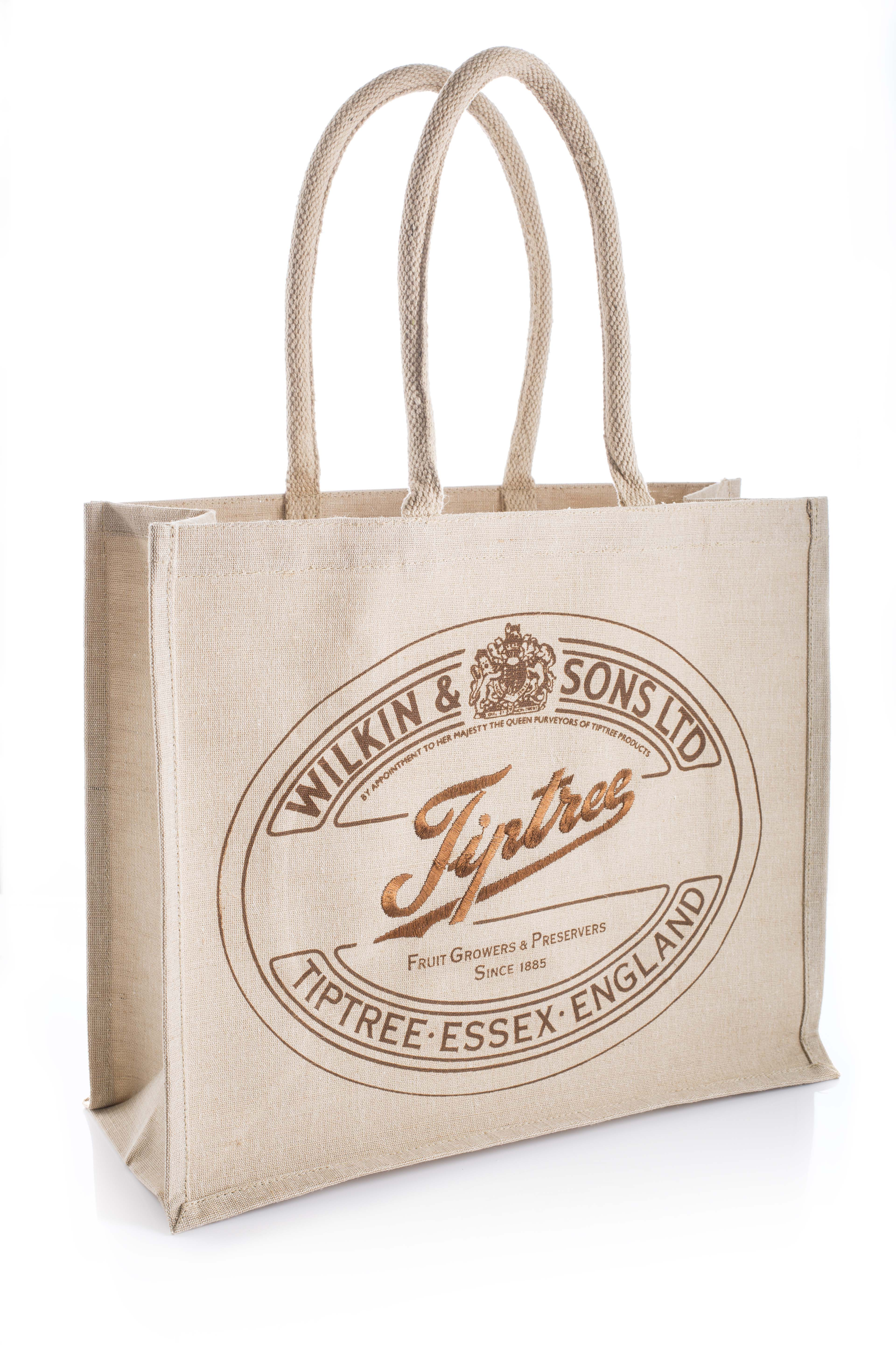 Bespoke Embroided Tiptree Juco Shopping Bag
