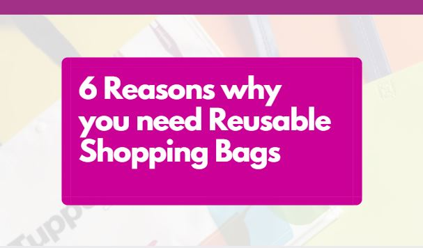 6 Reasons why you need reusable shopping bags blog header