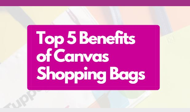 Top 5 benefits of Canvas Shopping Bags Blog Header